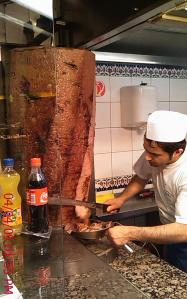Look at the size of the kebab... this Turkish restaurant in Vienna serves a wicked lamb dish